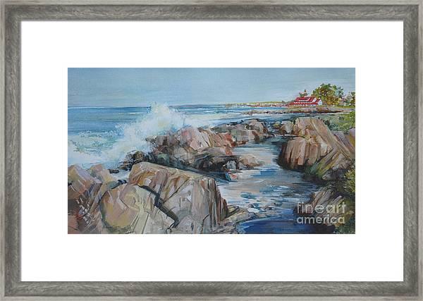 North Shore Surf Framed Print