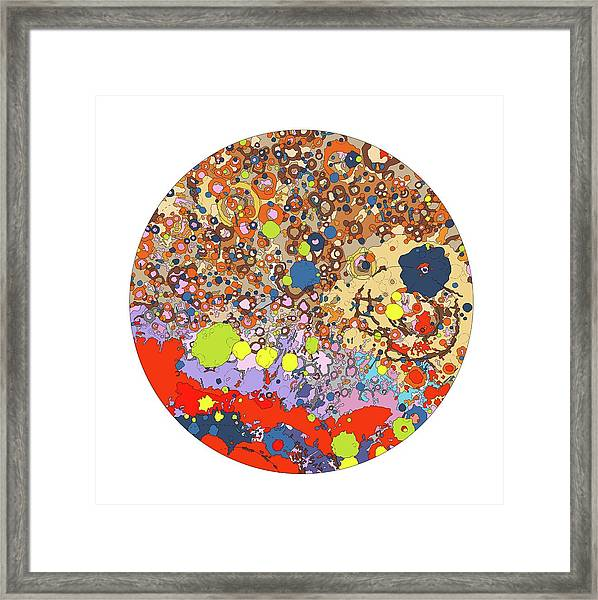 North Side Of The Moon Framed Print