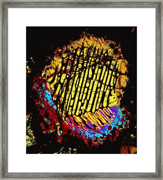 Neon Fingerprint Framed Print