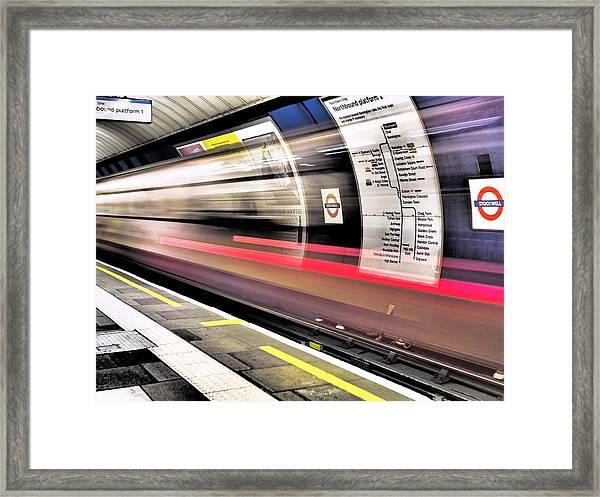 Northbound Underground Framed Print