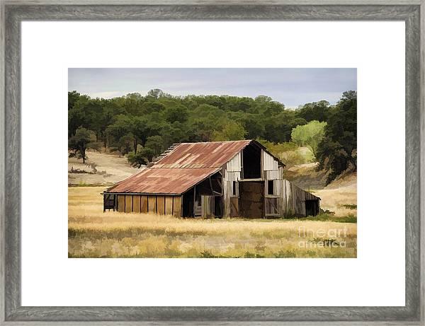 Northern California Barn Framed Print