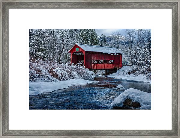 Northfield Vermont Covered Bridge Framed Print