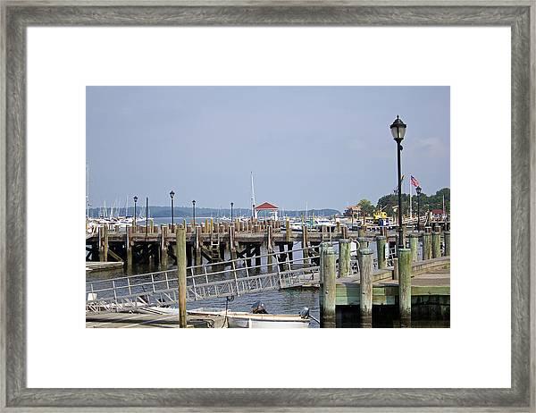 Northport Dock Long Island New York Framed Print