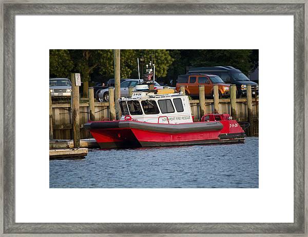 Northport Fire Boat Long Island New York Framed Print