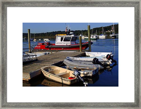 Northport Fire Boat Framed Print