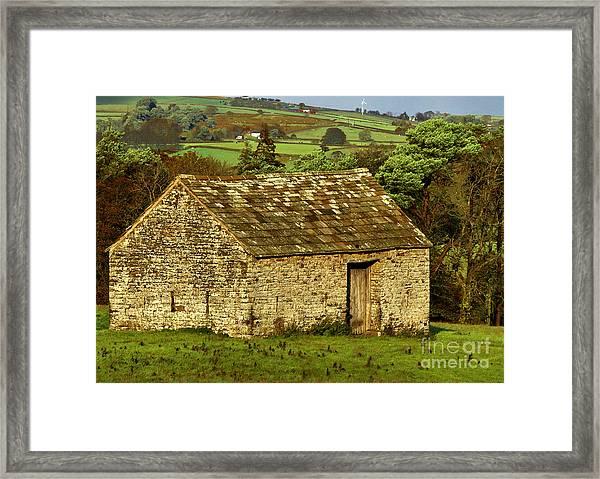 Northumberland Stone Barn Framed Print
