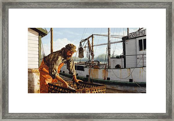 Northwest Fisherman Framed Print