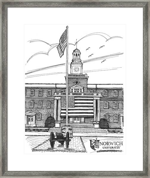 Norwich University Jackman Hall Framed Print