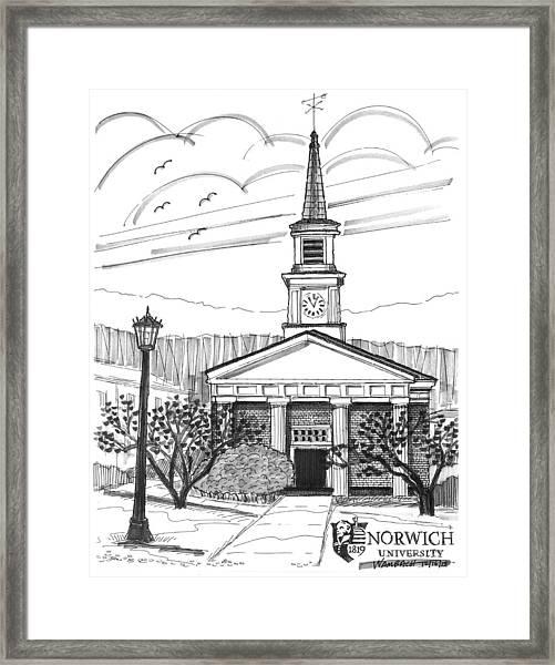 Norwich University White Chapel Framed Print