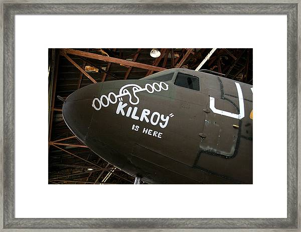 Nose Art Kilroy Was Here Framed Print