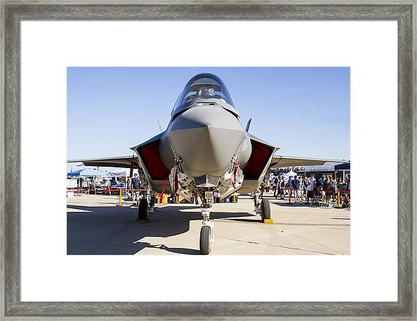 Nose To Nose With An F-35 Framed Print