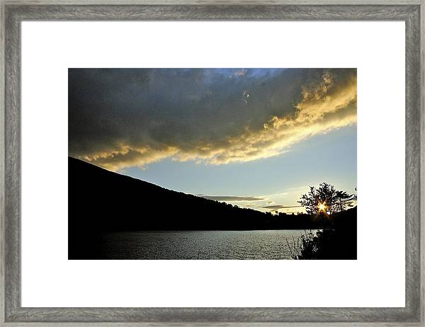 Notch Sunset Framed Print