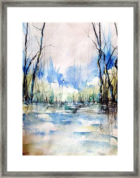Nothing But Blue Skies...coming Our Way Framed Print