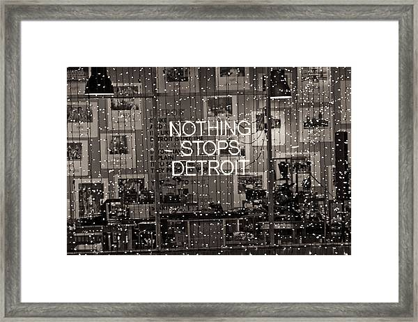 Nothing Stops Detroit  Framed Print
