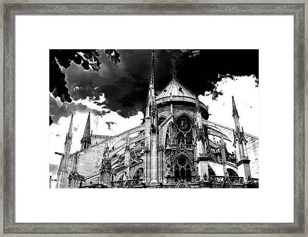 Notre Dam Revealed By Denise Dube Framed Print