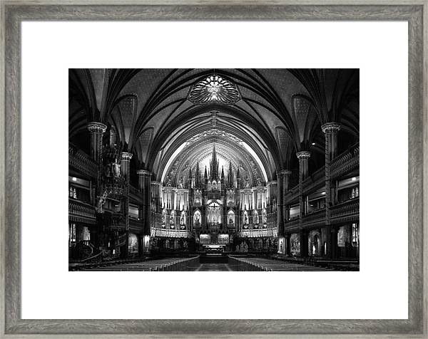 Notre-dame Basilica Of Montreal Framed Print by C.s. Tjandra