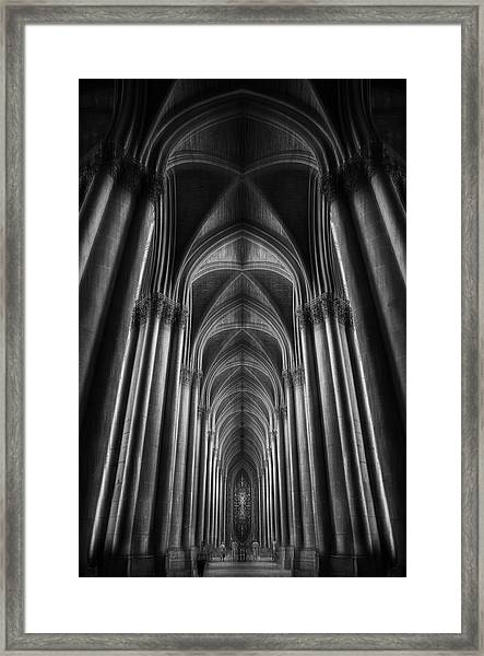 Notre-dame Catha?dral Framed Print by Oussama Mazouz