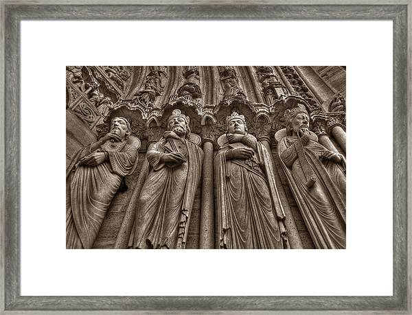 Notre Dame Facade Detail Framed Print