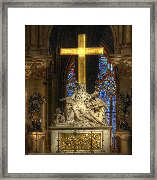 Notre Dame Pieta Framed Print