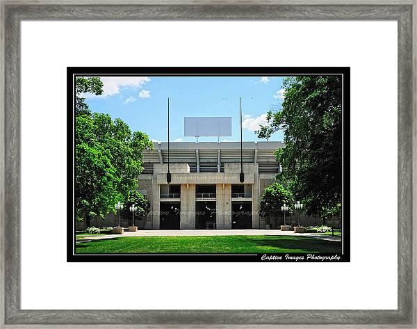 Notre Dame Stadium Framed Print
