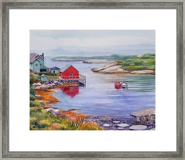 Nova Scotia Harbor Framed Print