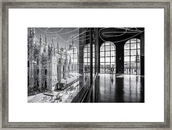 Novecento's Reflections Framed Print by Marco Tagliarino