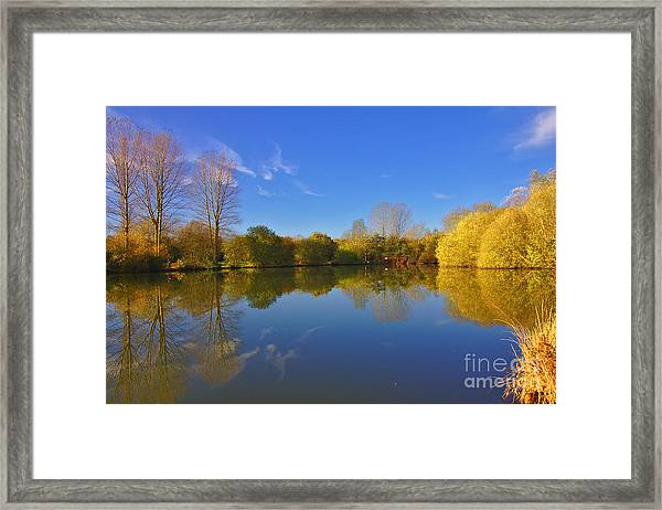 November Lake 1 Framed Print