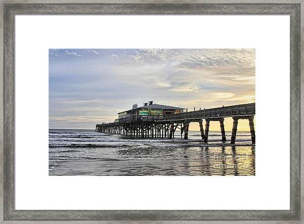 November Morning At Sun Glow Pier Framed Print