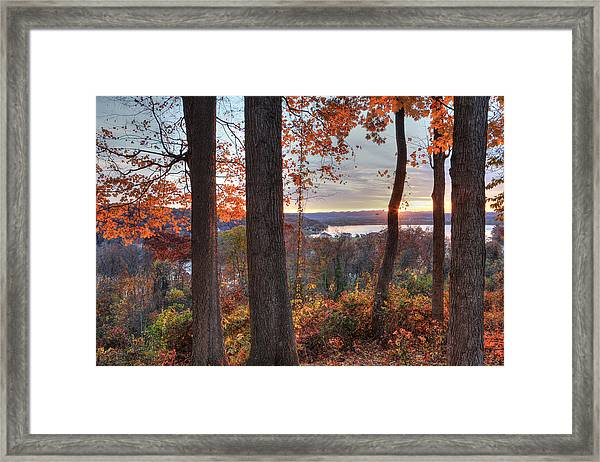 November Morning At The Lake Framed Print