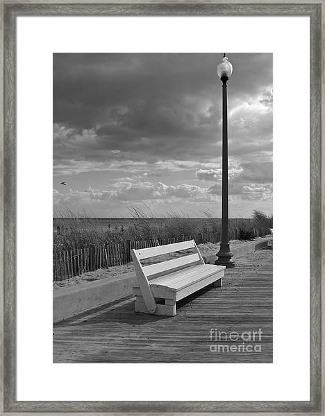 November On The Boardwalk Framed Print