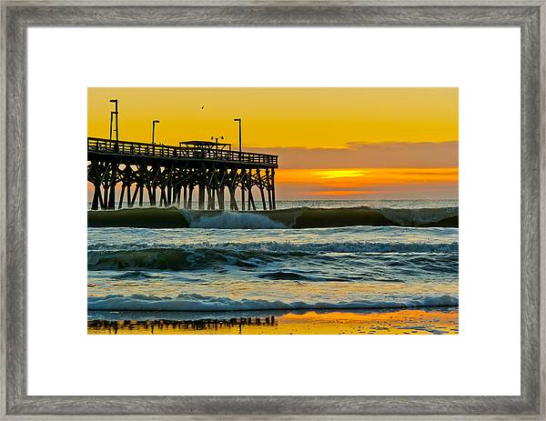 Framed Print featuring the photograph November Surf by Francis Trudeau