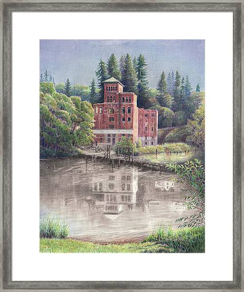 Now And Then - Old Olympia Brewery Framed Print