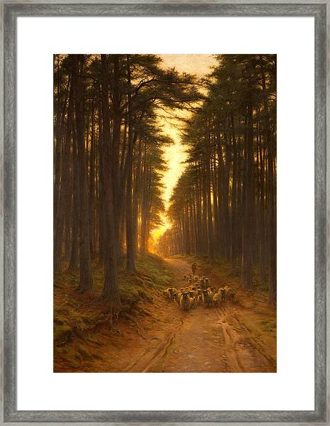 Now Came Still Evening On, Circa 1905 Framed Print
