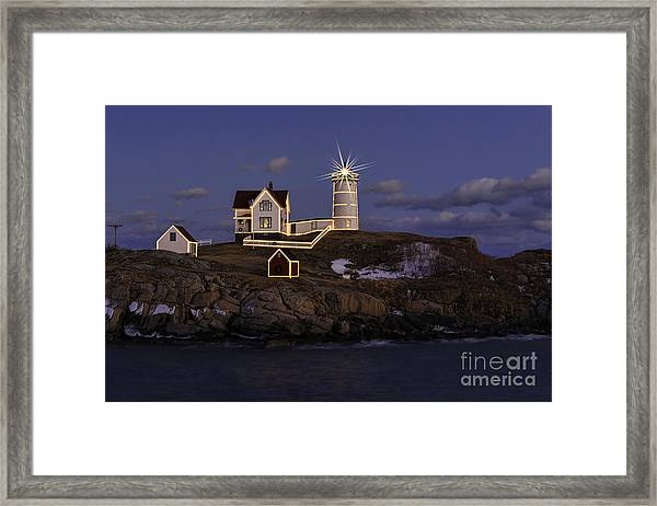 Nubble Lighthouse Ll Framed Print