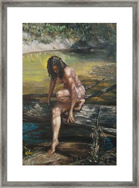 Nude By The Kickapoo Framed Print