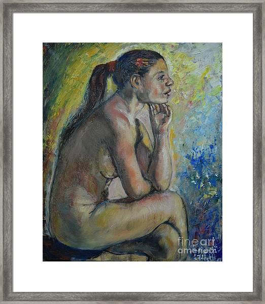 Nude Eva 2 Framed Print