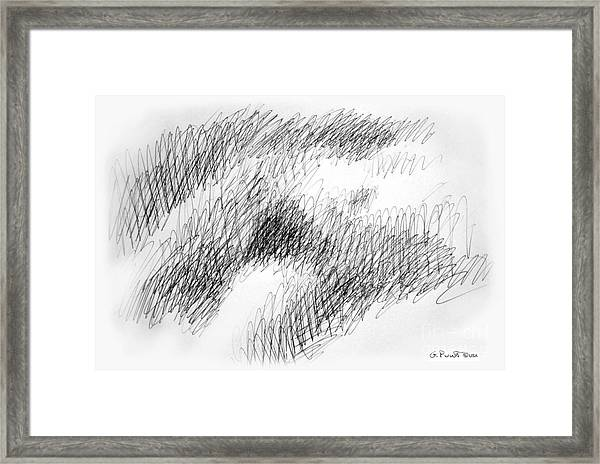 Nude Female Abstract Drawings 1 Framed Print