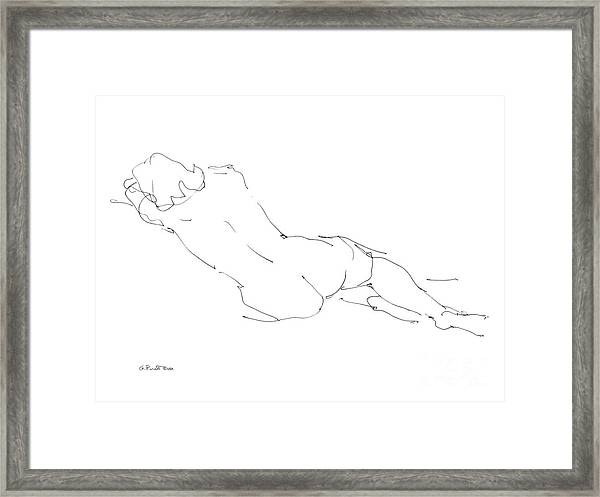 Nude Female Drawings 9 Framed Print