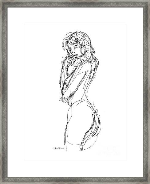 Nude Female Sketches 1 Framed Print