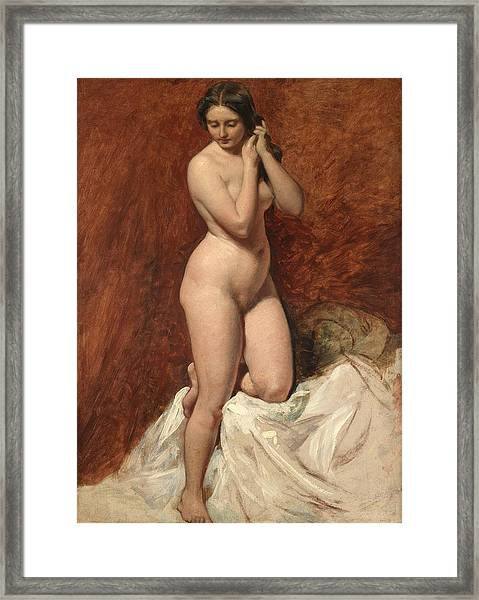 Nude From The Front Framed Print