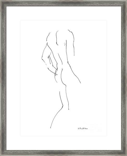 Nude Male Drawings 2 Framed Print