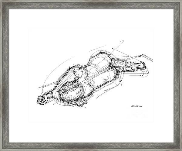 Nude Male Sketches 4 Framed Print