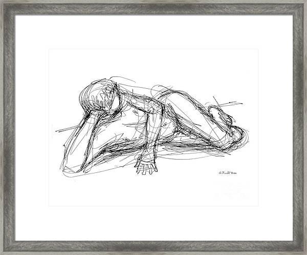 Nude Male Sketches 5 Framed Print