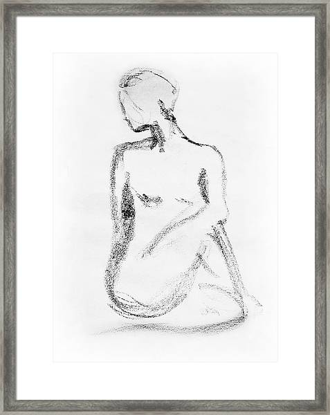 Nude Model Gesture Vi Framed Print