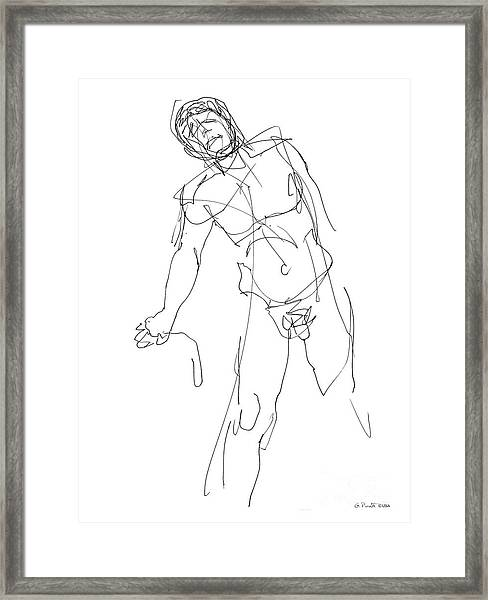 Nude_male_drawing_30 Framed Print