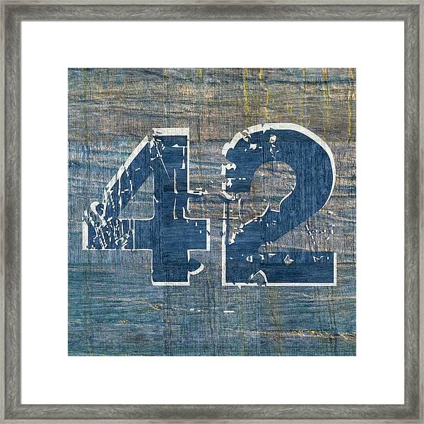 Number 42 Framed Print