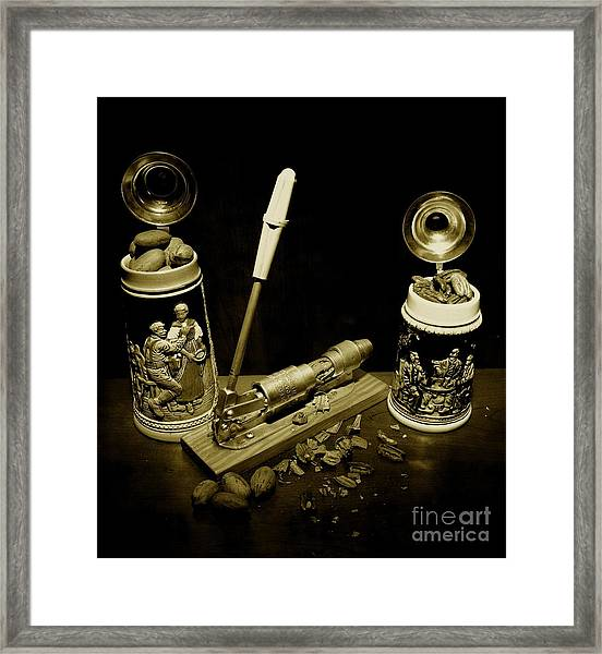 Nut Cracker With Steins Framed Print