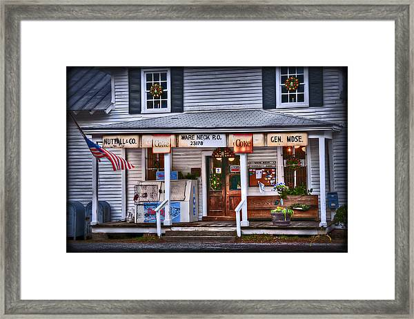 Framed Print featuring the photograph Nuttall And Company General Merchandise by Williams-Cairns Photography LLC