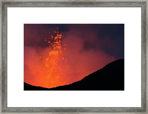 Nyamulagira Volcano Eruption Framed Print