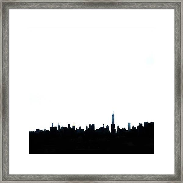 Nyc Silhouette Framed Print